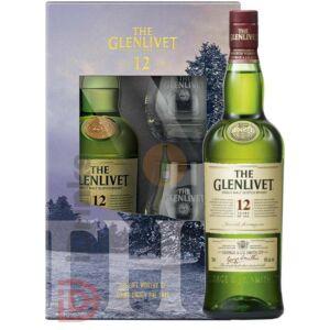 Glenlivet 12 Years Whisky (DD+2 Pohár) [0,7L 40%]